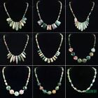 similar natural agate gemstone pendant beads stone handcrafted necklace