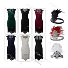 Lace Embellished Beaded Flapper Gatsby Cocktail Party Evening Prom 1920s Dress