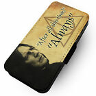 Always Snape Printed Faux Leather Flip Phone Cover Case Harry Potter Rickman #2