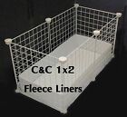Fleece with Uhaul liners for 1x2 c&c cage Many choices!  Guinea pig hedgehog rat
