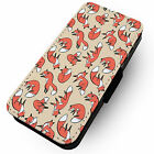 Fox Pattern -Faux Leather Flip Phone Cover Case Abstract Design Inspired Cute #1