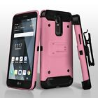 For LG Stylo 3 Hybrid Impact Armor Rugged Hard Case Cover Clip Holster + Screen фото