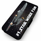#1 Star Wars Fan . Printed Faux Leather Flip Phone Cover Case #2