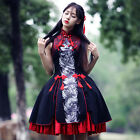 Gothic Lolita Cosplay costume Kostüm Schwarz Rot Black Red Abendkleid dress Doll