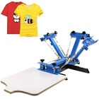4 Color 1 Station Siebdruckmaschine Siebdruck Shirtdruck Screen Printing Press