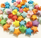50 Many Colours Handmade Folded Plain Origami Lucky Paper Star Party Decoration