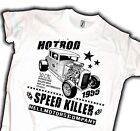 Hot Rod T-Shirt Old School V8 Retro Biker US Car Vintage Rockabilly Kustom -XXL