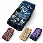 Harry Potter Quote Printed Faux Leather Flip Phone Cover Case #1