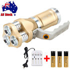 Waterproof 12000Lm 3x XML T6 LED Handheld Flashlight Torch LAMP 3*18650+Charger
