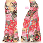 Floral Colorful Sublimation high waist maxi long skirt (S/M/L/XL/1XL/2XL/3XL)