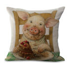 Cute Piggy Throw Pillow Cases Home Decorative Cushion Cover Square