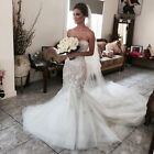 Applique Mermaid Wedding Dress Sweetheart Bridal Gown Custom Size 8 10 12 14 16+