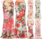 Floral Rose Pink Sublimation high waist maxi long skirt (S/M/L/XL/1XL/2XL/3XL)