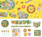 Jungle Animal Friends Party Supplies Tableware Plates Napkins Cups Confetti Loot