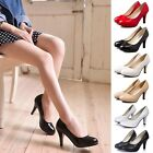 Women's Fashion Sexy Color Pointed Toe Patent Pump Heels Shoes Size Summer USA
