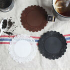 2pcs_Silicone Lace Doily Coasters Coffee Tea Cup Mat (Ø9.7cm)