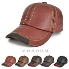 Leather Trucker Hat Baseball Cap Vintage Mens First Layer Cowhide Leather Hats