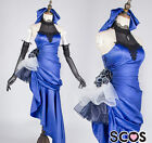 Fate/extella fate/zero saber cosplay costume blue party dress