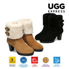 UGG Boots Candice -Ladies Fashion High Heel,  Australian wool line,Zip Up Style