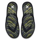 HURLEY NEW Mens One & Only Printed Sandals Black Camo BNWT