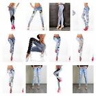 Womens Ripped Faded Slim Fit Jeans Knee Cut Ladies Skinny Stretch Denim 6- 14