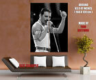 Rare BW Stage Freddie Mercury Singing Rock Band HUGE GIANT PRINT POSTER