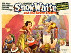 Snow White And The Seven Dwarfs 1937 Vintage HUGE GIANT PRINT POSTER
