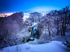 Snow Winter Waterfall Forest River Beautiful HUGE GIANT PRINT POSTER