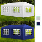 vidaXL Party Tent w/ 6 Walls 10'x20' White/Blue Garden Canopy Gazebo Pavilion