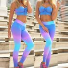 Womens YOGA Gym Sports Running Pants Leggings Fitness Stretch Trousers Summer US