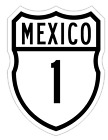 African Home Decor Accessories Mexico Federal Highway 1 Sticker Decal R971 Highway Sign  Photos Of Home Decor