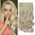 "16""-20"" Body wave One Piece 5 Clips 100% Real Human Hair Extensions Black Blonde"