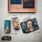DISNEY Star Wars Leia X-Wing Cowhide Key Case Ring Holder Made in Japan E3270
