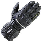 Buffalo Bay Black Leather Motorcycle Gloves New