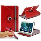 """For ViewSonic ViewPad 10pro (10.1"""") Tablet Case 360 Rotating Stand Wallets + Pen"""