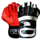 Leather Wicket Keeper Gloves Wicket keeping Keepers Gloves Grippy Boys,Youth,Men