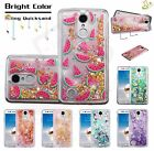LG K10 K20 Plus K20 V Bling Hybrid Liquid Glitter Rubber Silicone TPU Case Cover
