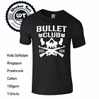 Bullet Club Pro Wrestling Kids T Shirt Available XS-XL In Variety Of Colours