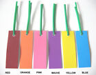"PLASTIC TAGS - PLANT LABELS - 100 TWIST-TIED TAGS (3"" X 1"")  SINGLE COLOR  PACKS"