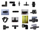 Garden Water Irrigation Connectors - Elbow, Tee, Plug, Clamps, Valves, 50 Styles