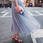 HQT Women Girl A Line Long Maxi Tulle Tutu Dress Princess layers Skirt Prom Gown