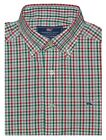 Vineyard Vines Men's Slim Fit Whale Shirt Holiday Gingham Red/Green)