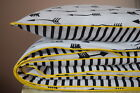 COTTON Single Cot Bed Duvet Cover Set reversible black & white arrow stripes