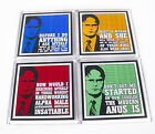 Set of The Office Dwight Schrutes Quotes Coasters