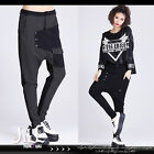 american street punk korean K-pop thigh pocket unisex harem pants【J2J2035】