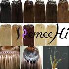"16""-30"" Micro Ring Loop Bead Tip 100% Real Remy Human Hair Extensions 100S/70G"