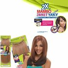 """Janet Collection Premium Synthetic Crochet Braid 2X MAMBO JANET YAKY 12"""" & 16"""""""