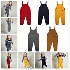 Kids Baby Boy Girl Knit Cotton Bid Pants Romper Jumpsuit Overalls Clothes New #1