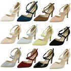 WHOLESALE Ladies Pointed Court Shoes / Sizes 3-8 / 14 Pairs / F10551
