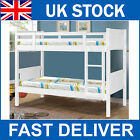 Hot Sale!! White Solid Wooden Bunk Beds Kids Childrens Bedroom Single Size 3ft